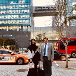 Outside Samsung Engineering Office in Seoul after the HAZOP & SIL workshop for ADNOC Refining Crude Flexibility Project. Next to me is Siti Hajar, who was the scribe in the workshop.
