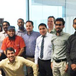 With the team members of DUQM Refinery HAZOP & SIL workshop at TR Engineering Office in Madrid, Spain.