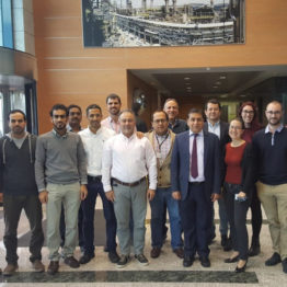 With Hydrocracker Unit HAZOP/SIL team member from DUQM Refinery, Chevron Lummus Global, Wood Group (PMC) and TR Engineering at the end of the workshop at TR Engineering Office in Madrid.